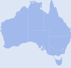 Map of Austrailia